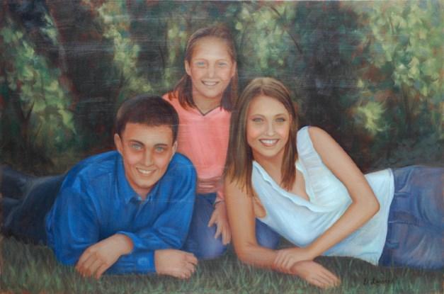 """Deb's kids-708"" original fine art by Dee Lessard"