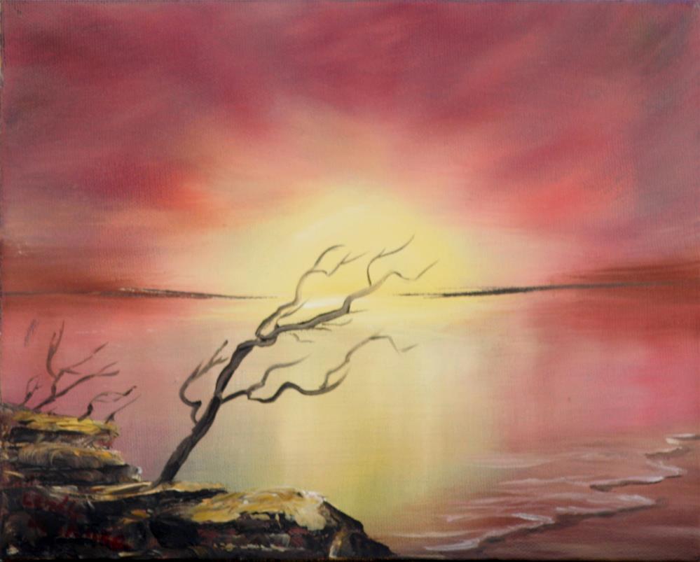 """Sunrise"" original fine art by Lendel Holmes"