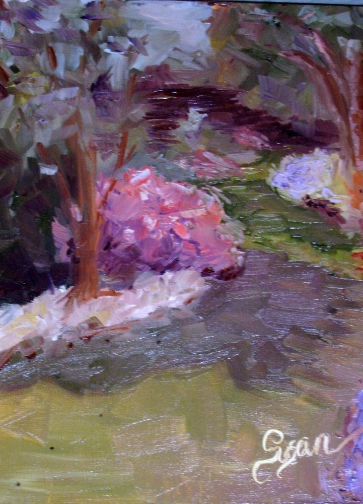 """Among the Azaleas"" original fine art by Susan Elizabeth Jones"