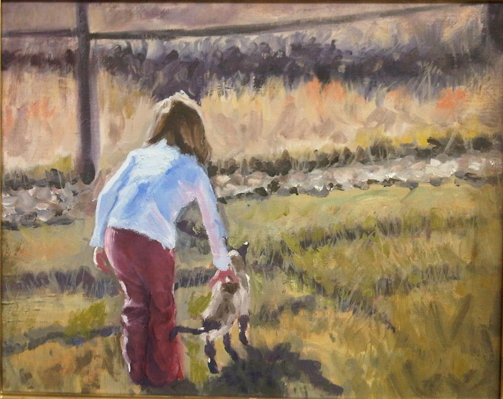 """Delaney and Siamese"" original fine art by Rick Blankenship"