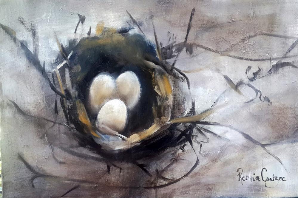 """Safehaven 8"" original fine art by Rentia Coetzee"