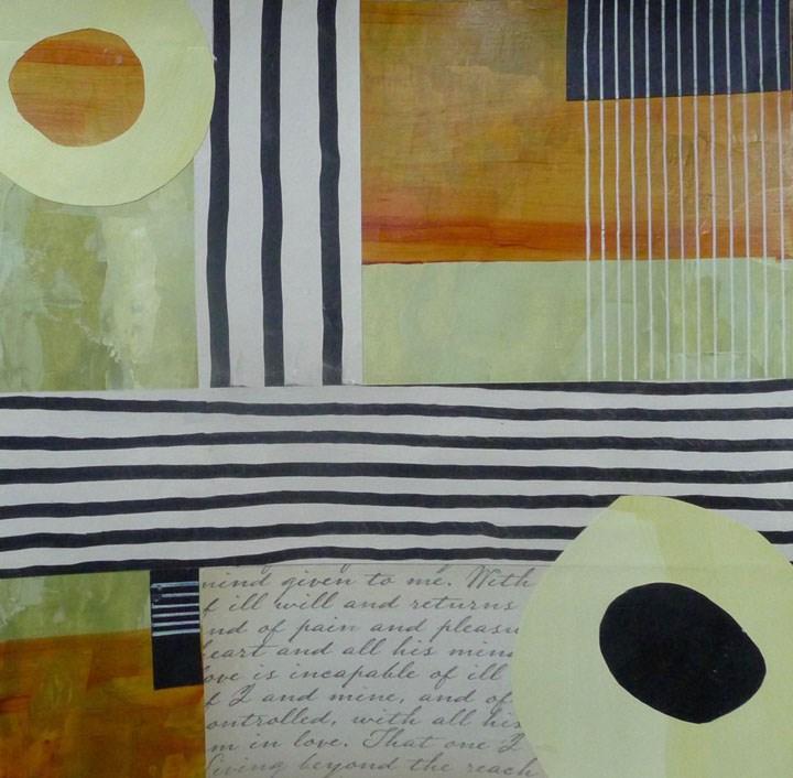 """COLLAGE No. 6"" original fine art by Linda Popple"