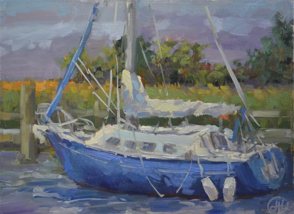 """""""blue day"""" original fine art by Dottie  T  Leatherwood"""