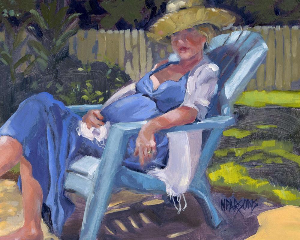 """Lady in Waiting"" original fine art by Nancy Parsons"