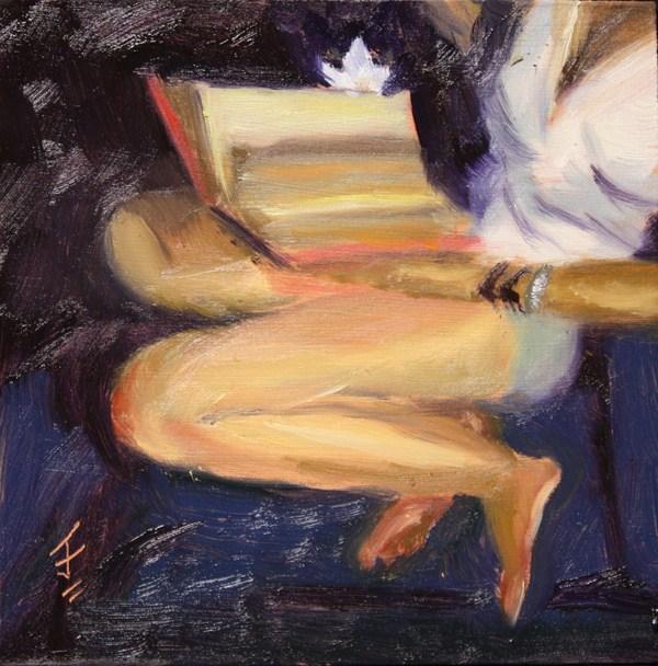 """Reading Companion"" original fine art by Jane Frederick"