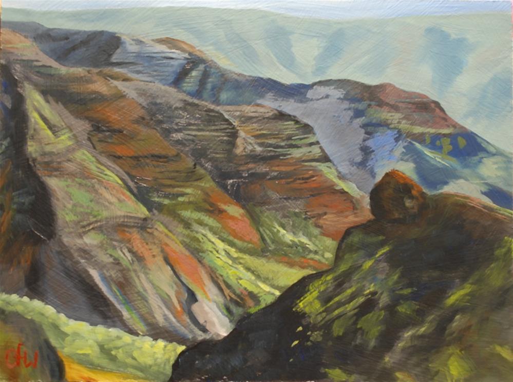 """Hawaii Lookout"" original fine art by Gary Westlake"