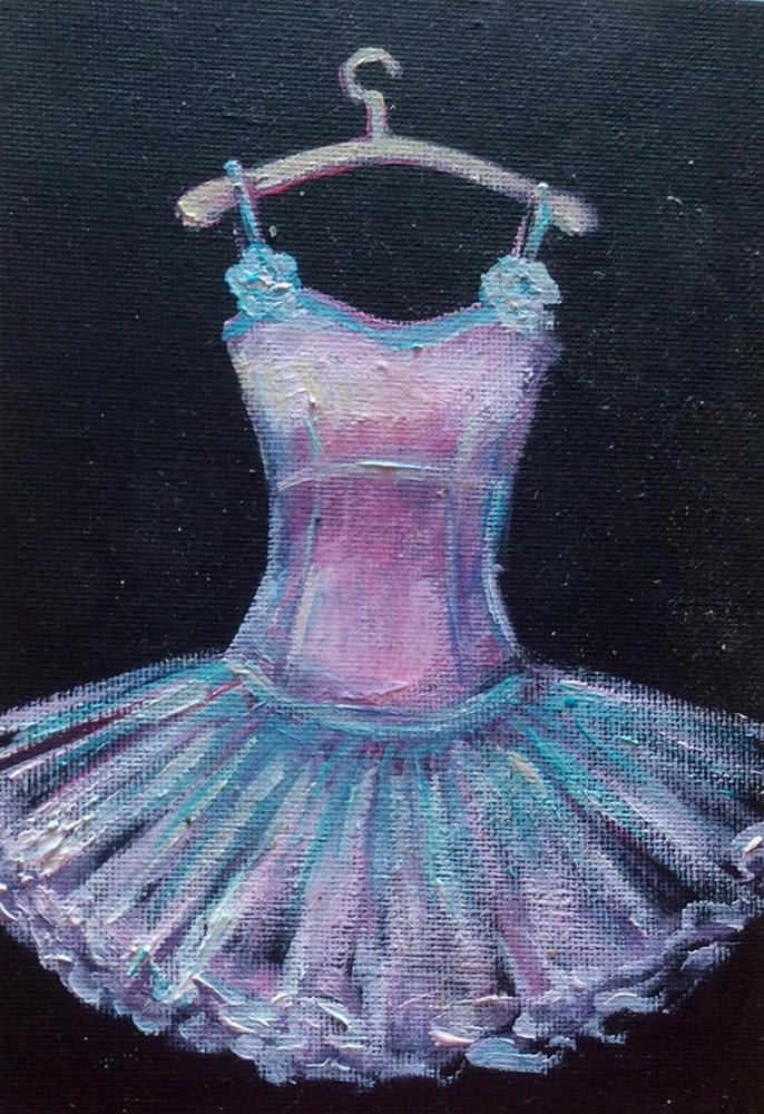 """""""Pink dancing dress"""" original fine art by Sonia von Walter"""