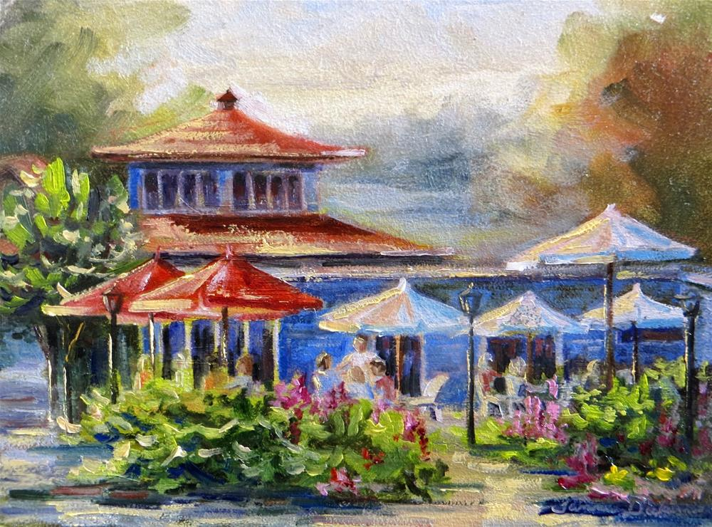 """Summertime Cafe"" original fine art by Tammie Dickerson"