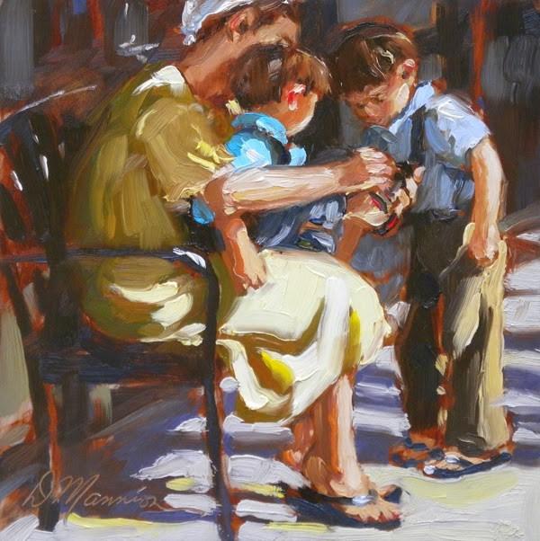 """One Two Buckle My Shoe"" original fine art by Diane Mannion"