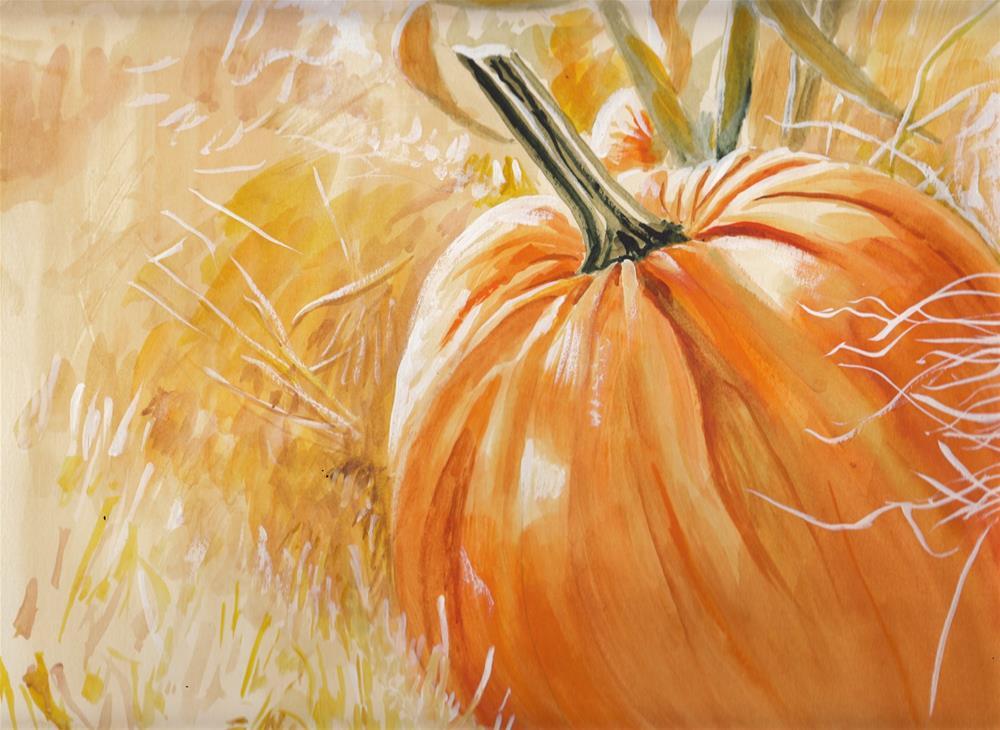 """""""Pumpkin """" original fine art by Bunny Griffeth"""
