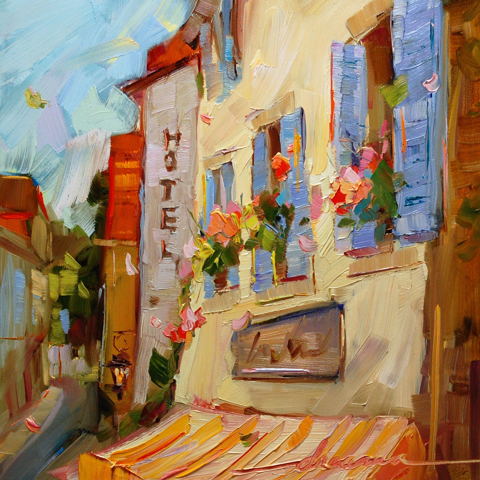 """""""A French State of Mind"""" original fine art by Dreama Tolle Perry"""