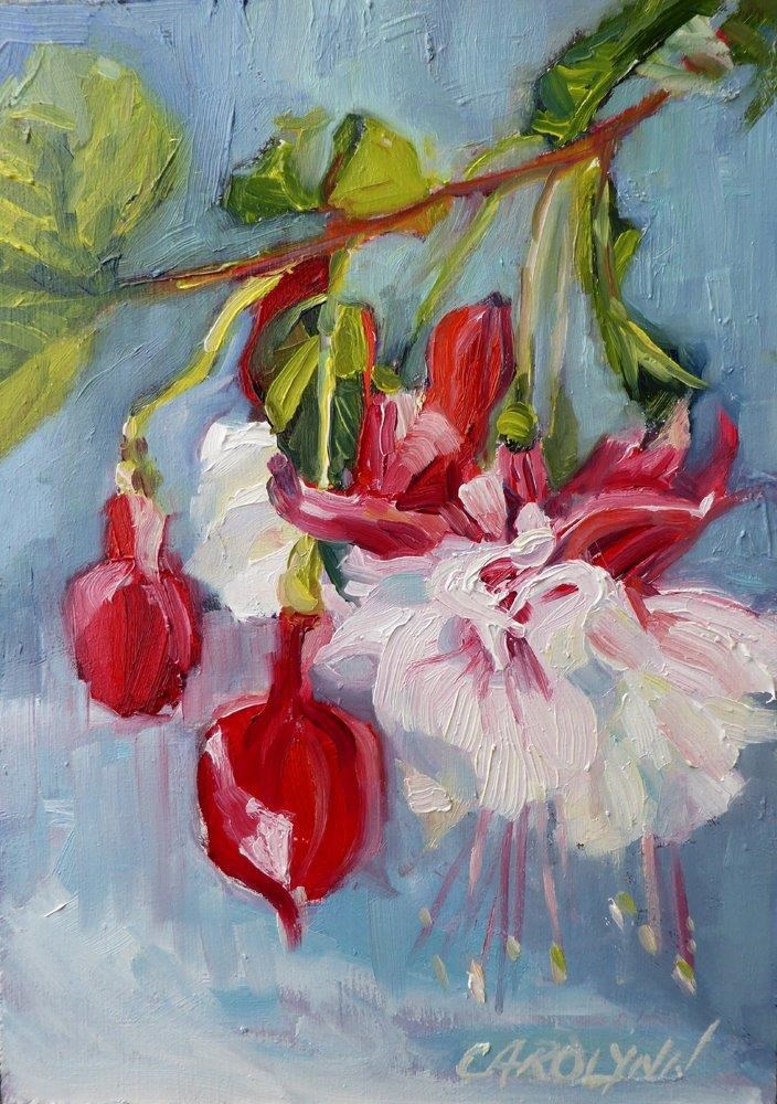 """Cherry Bombs"" original fine art by Carolynn Doan"