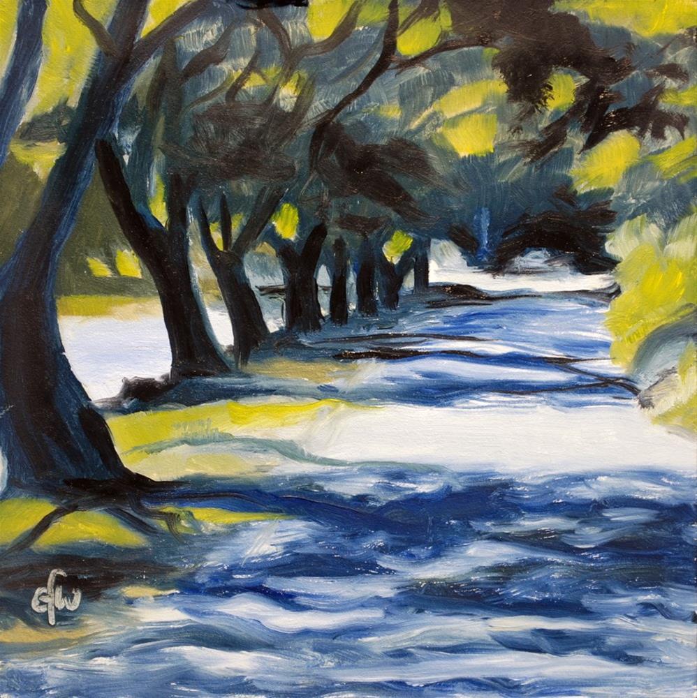 """""""Lane by the Avon River"""" original fine art by Gary Westlake"""