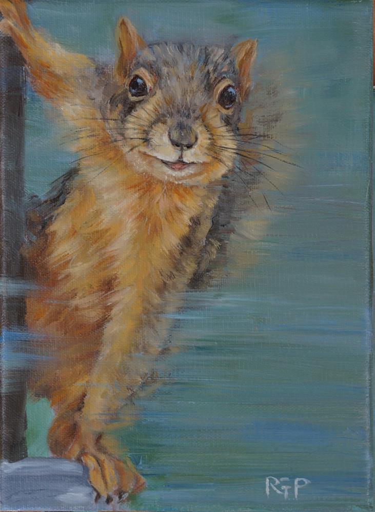 """""""You Talkin' to Me?"""" original fine art by Rhea  Groepper Pettit"""