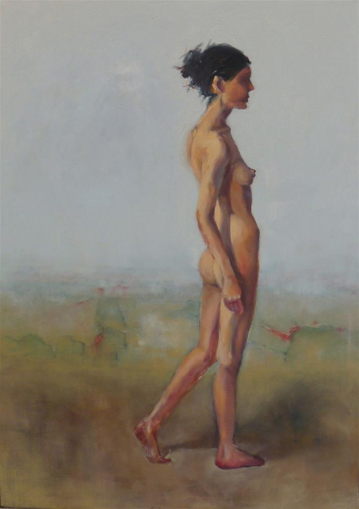 """Walk A Mile"" original fine art by Sharman Owings"