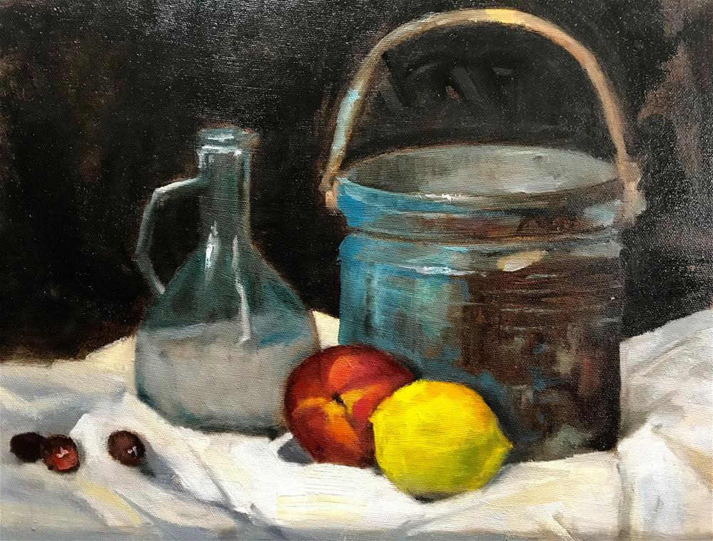 """old copper pot"" original fine art by Betty Argiros"