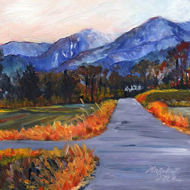 """Road at Rice Fields"" original fine art by Mariko Irie"