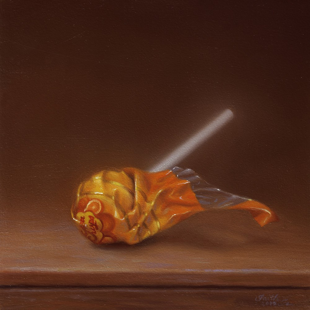 """Orange Lollipop"" original fine art by Faith Te"