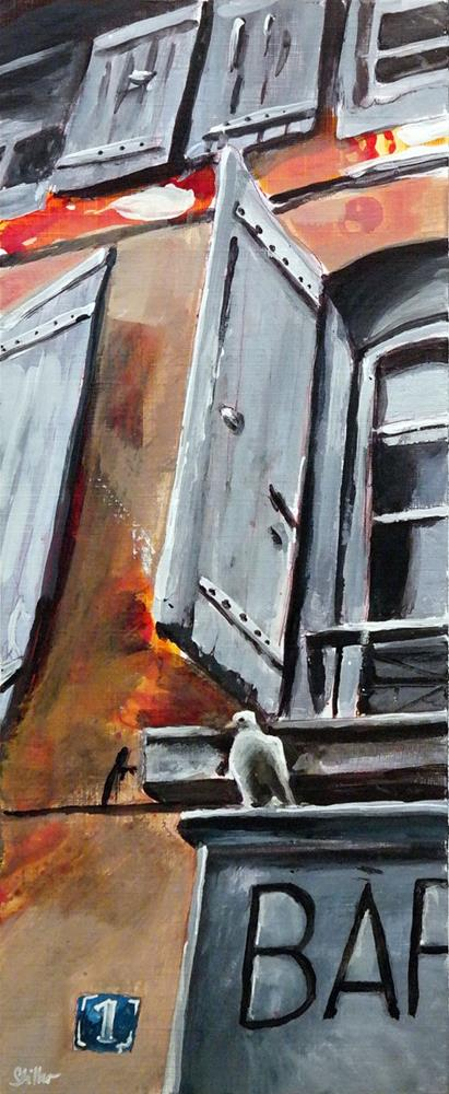 """2627 White Pigeon"" original fine art by Dietmar Stiller"