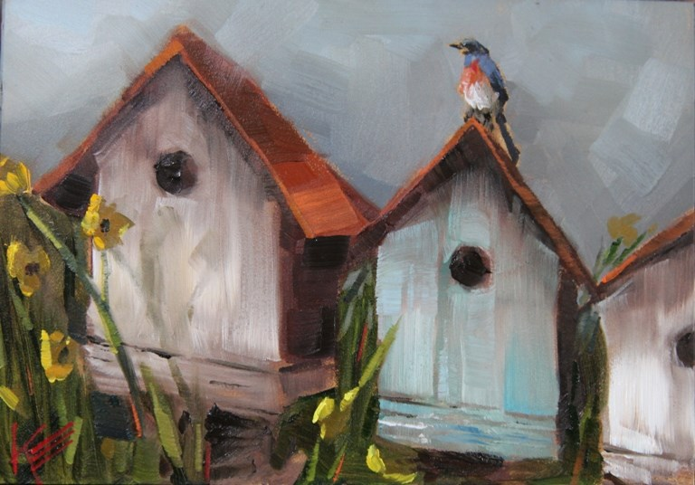 """""""Master of the House"""" original fine art by Krista Eaton"""