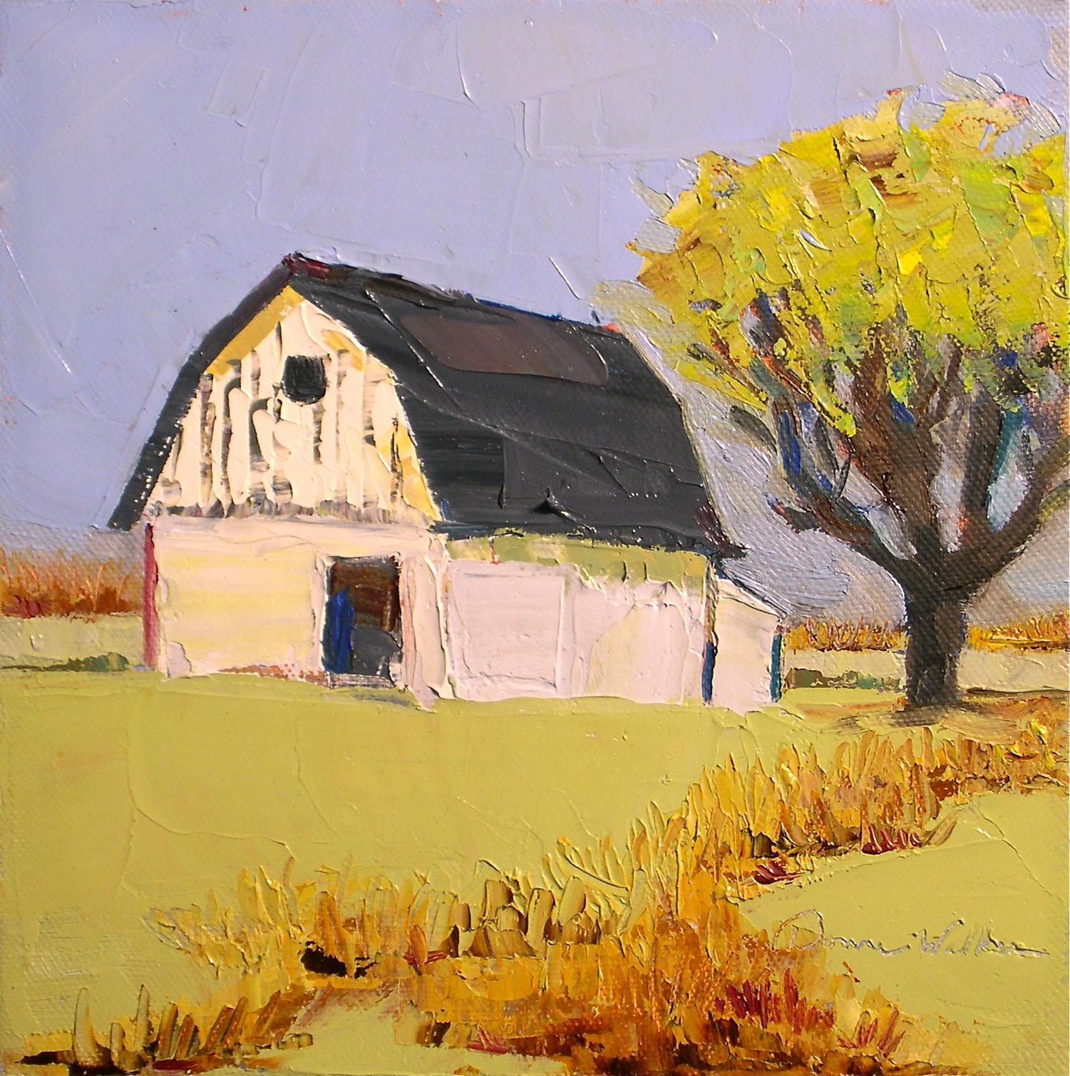 """Rustic Outlook"" original fine art by Donna Walker"