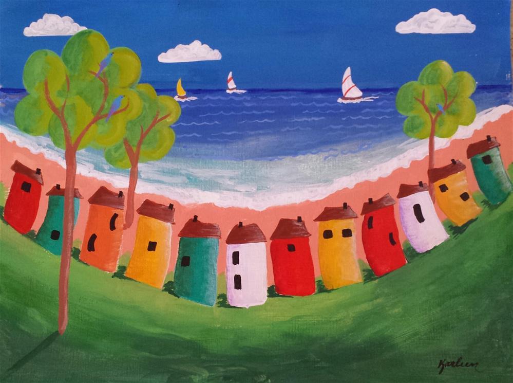"""By the Shore"" original fine art by Karleen Kareem"