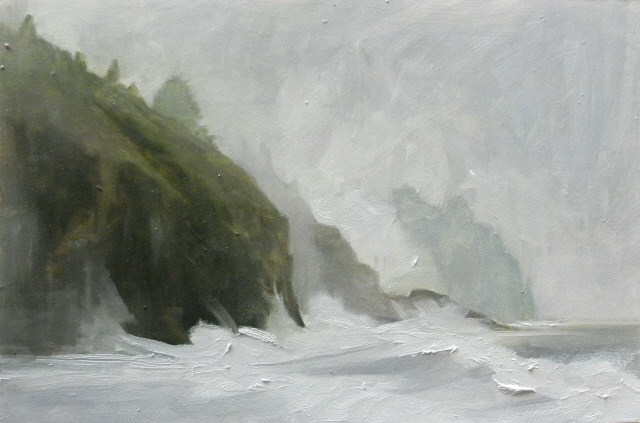 """Cape Disappointment plein air , oil , landscape painting by Robin Weiss"" original fine art by Robin Weiss"