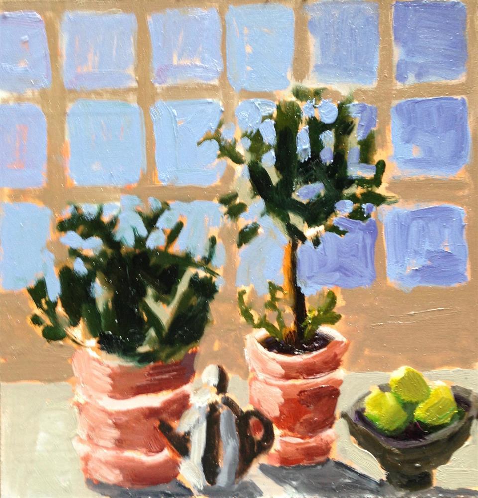 """Potted Rosemary"" original fine art by Pamela Hoffmeister"