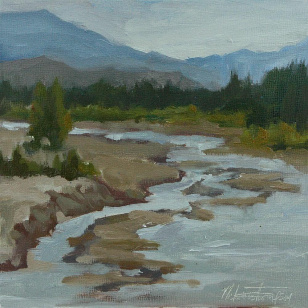 """Roadside Creek, Alaska"" original fine art by Melanie Thompson"