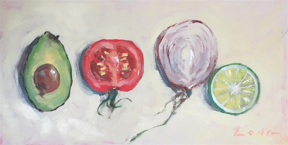 """Guacamole"" original fine art by Chris Long"
