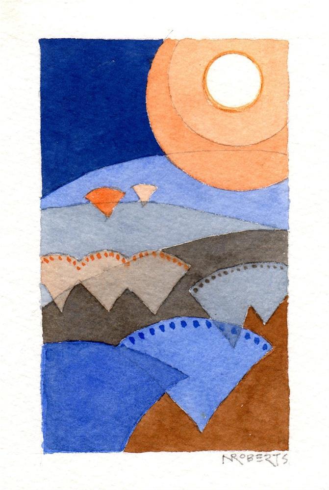 """Orchard Moon"" original fine art by Nancy Roberts"