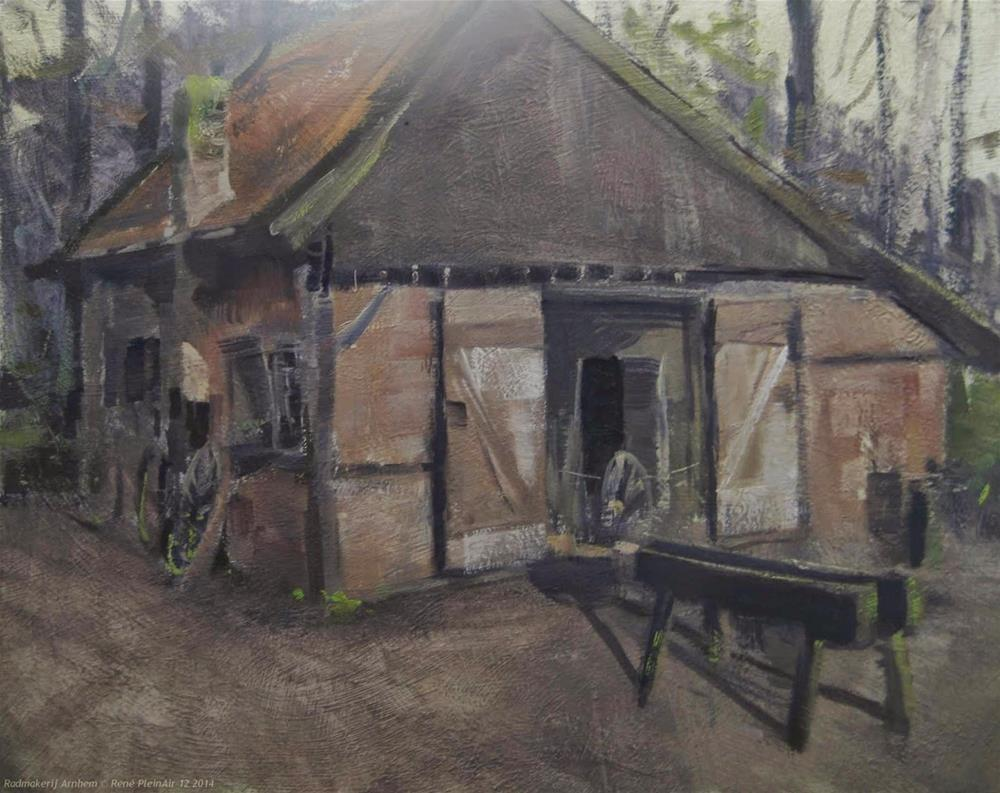 """Wheelmakers sched Arnhem, The Netherlands"" original fine art by René PleinAir"