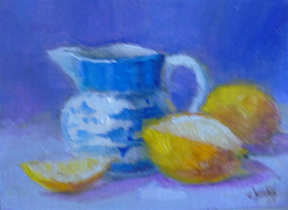 """Blue and Yellow"" original fine art by Carol Josefiak"