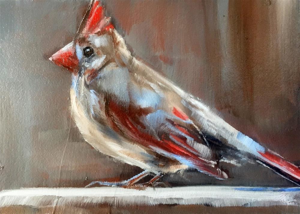 """Ms. Red"" original fine art by Gary Bruton"