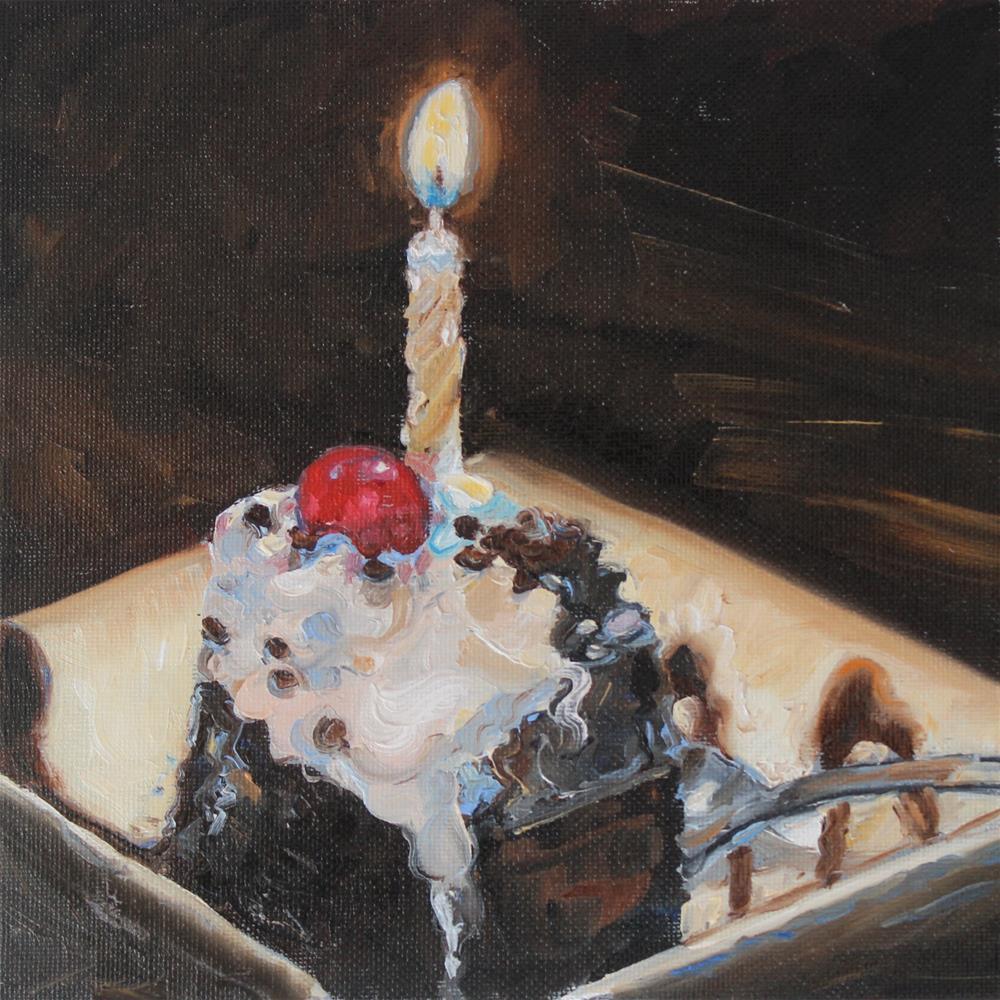 """Celebrate- Three Dog Night"" original fine art by Tess Lehman"