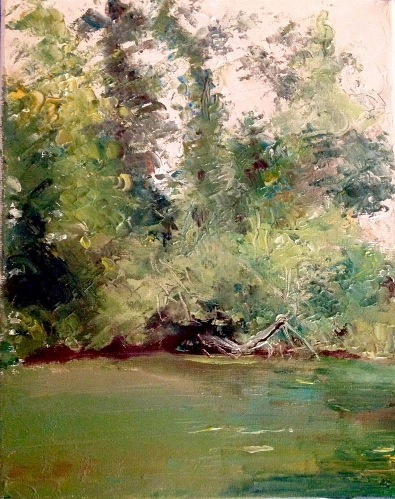 """River in Tualatin, Oregon"" original fine art by Judy Usavage"