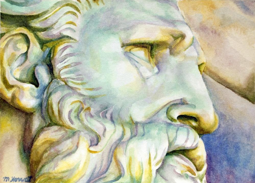 """Roman Face"" original fine art by Margaret Horvat"