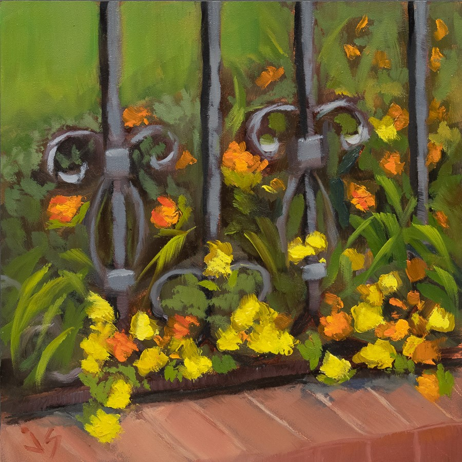 """Escape the Estate Fence"" original fine art by Johnna Schelling"