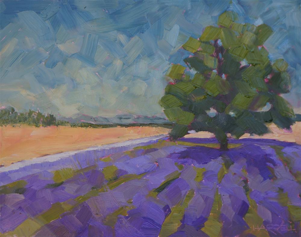 """""""Lavender Lake Farm"""" original fine art by Sue Harrell"""