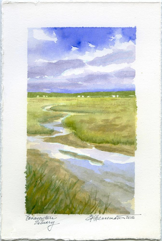 """Bonaventure Estuary"" original fine art by Eileen Hennemann"