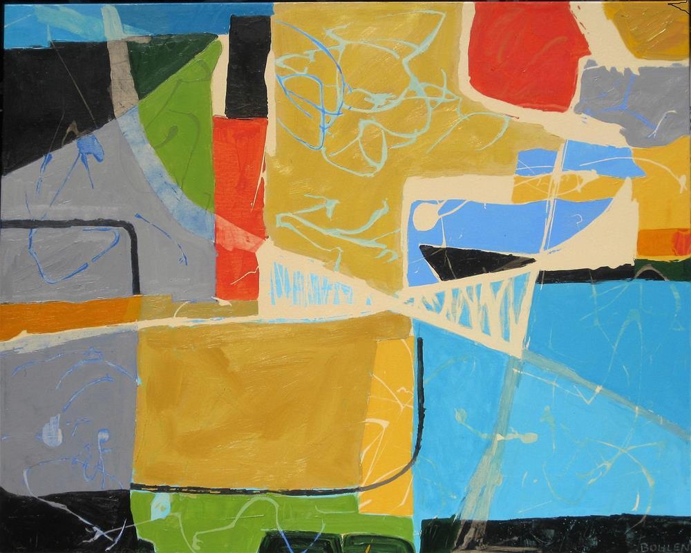 """Cross Town"" original fine art by Priscilla Bohlen"