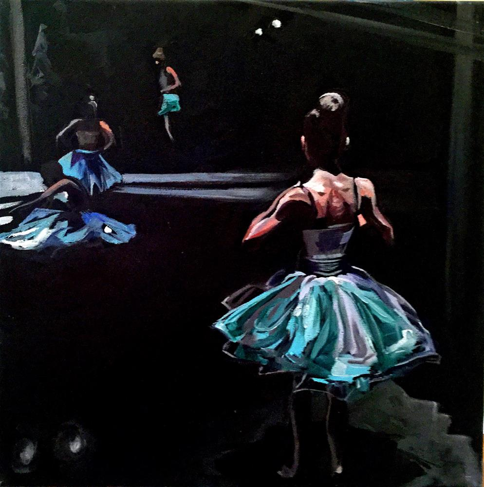 """Backstage Ballerinas"" original fine art by Lauren Kuhn"