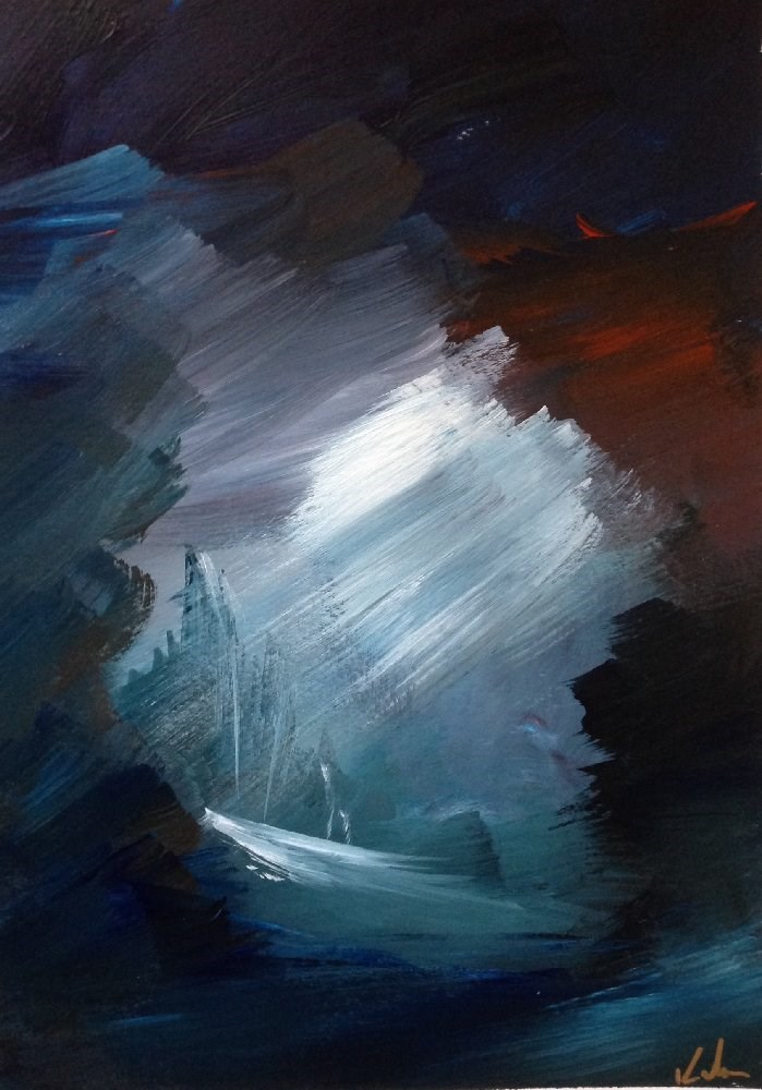 """Guarded Silence"" original fine art by David Kuhn"