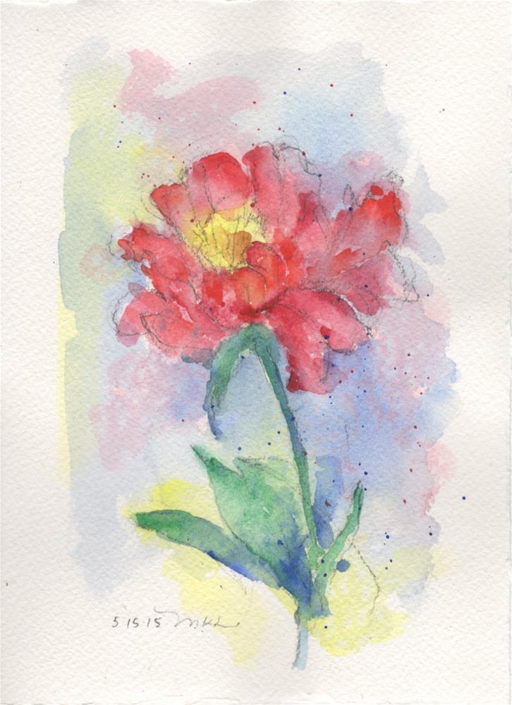 """Peony in May"" original fine art by Marlene Lee"
