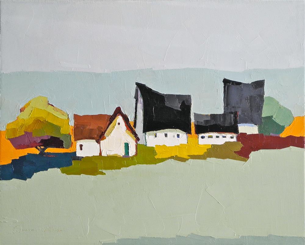 """A Country Quartet"" original fine art by Donna Walker"