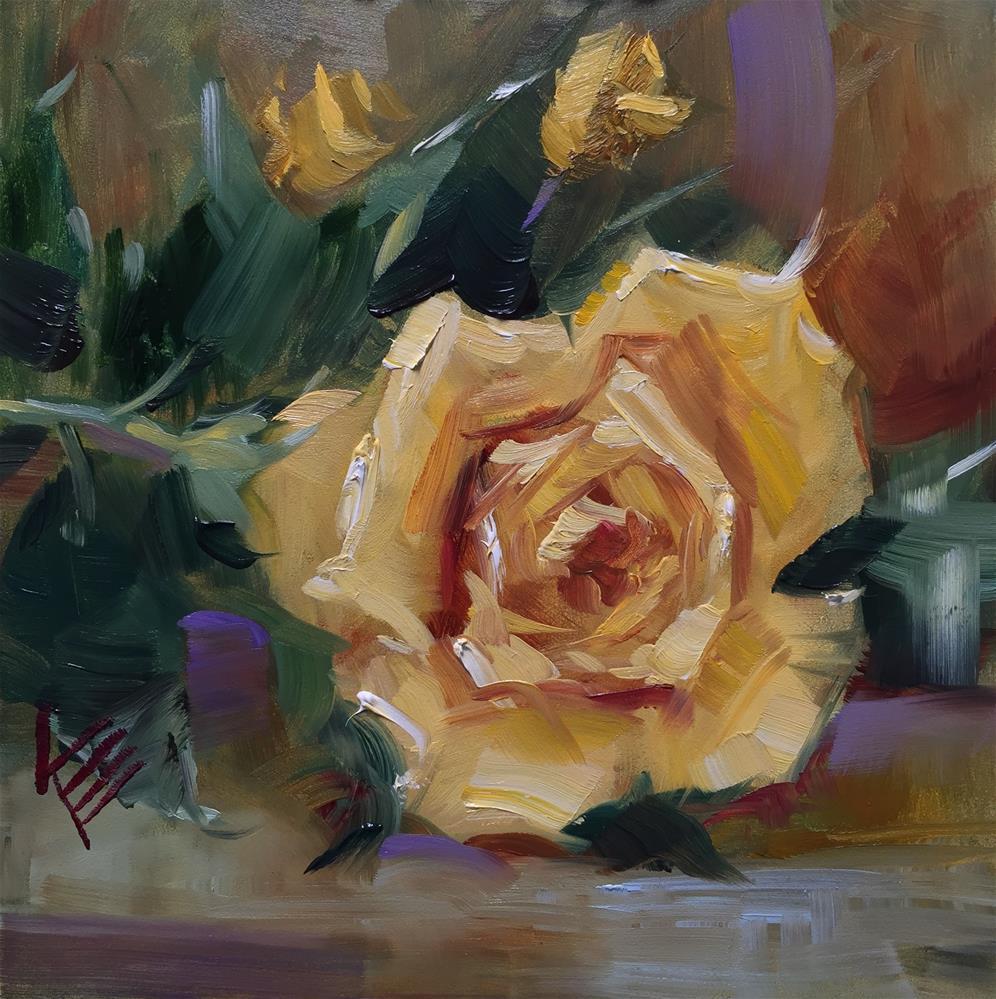 """Rose Sketch"" original fine art by Krista Eaton"