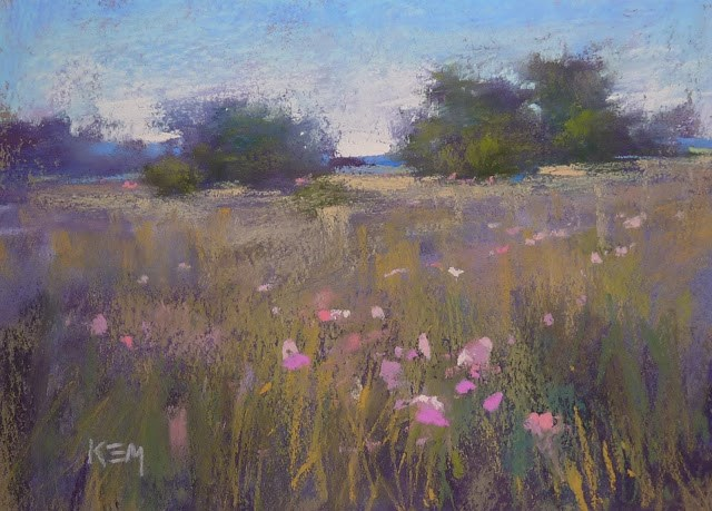 """""""Bumpy or Smooth? A Side by Side Demo on Canson"""" original fine art by Karen Margulis"""