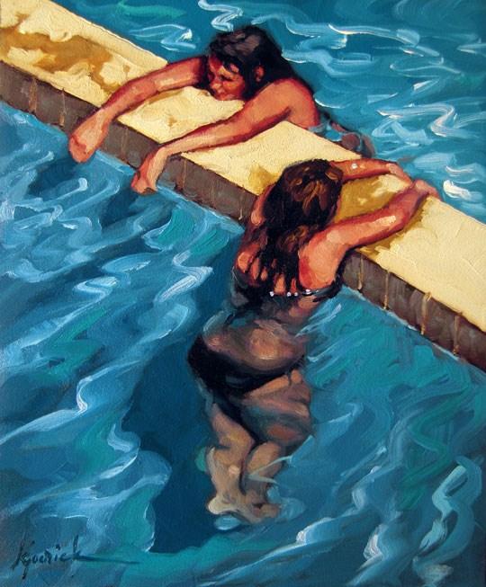 """Double Dip"" original fine art by Karin Jurick"