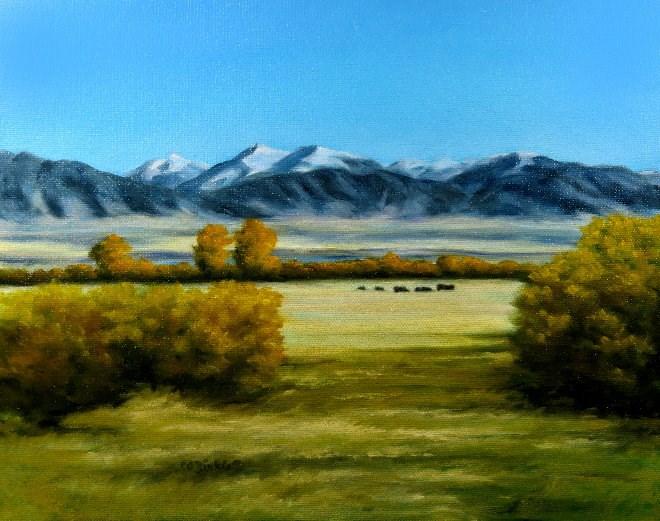 """Fall Pasture"" original fine art by Carol Zirkle"