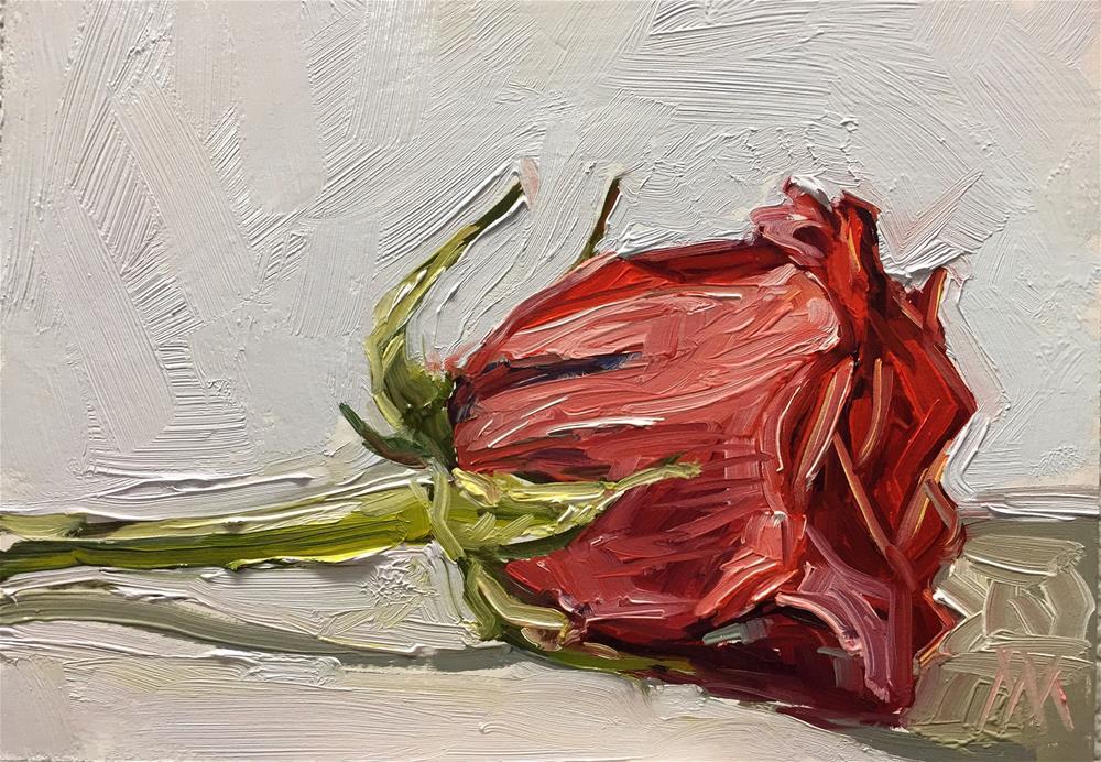 """Red Rose"" original fine art by Austin Maloney"
